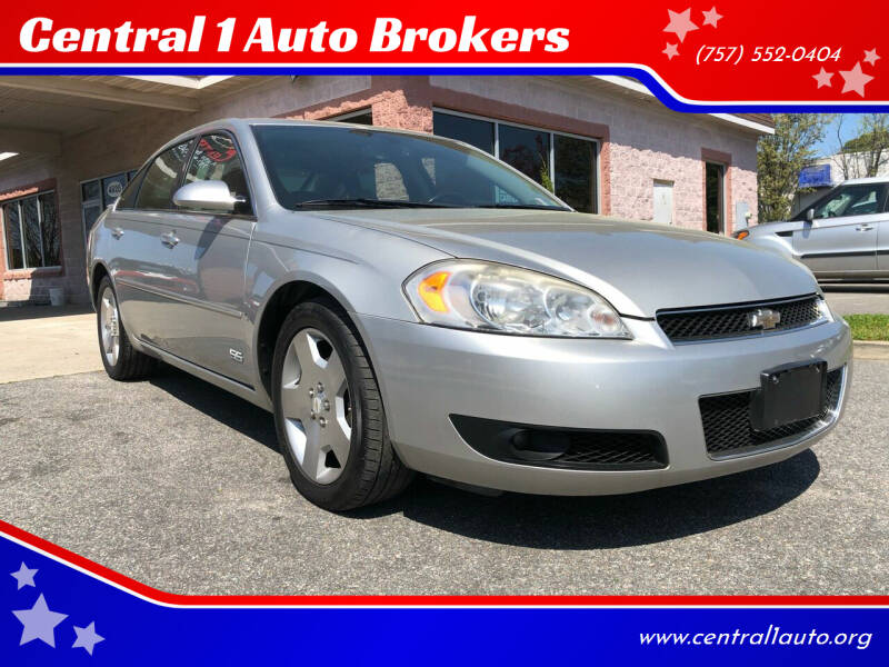 2007 Chevrolet Impala for sale at Central 1 Auto Brokers in Virginia Beach VA