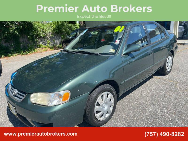 2001 Toyota Corolla for sale at Premier Auto Brokers in Virginia Beach VA