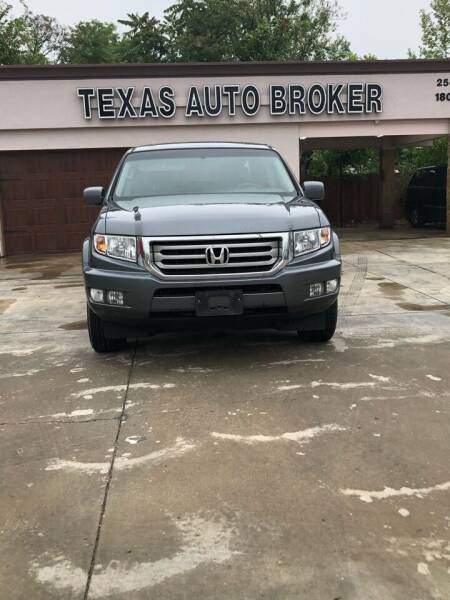 2012 Honda Ridgeline for sale at Texas Auto Broker in Killeen TX
