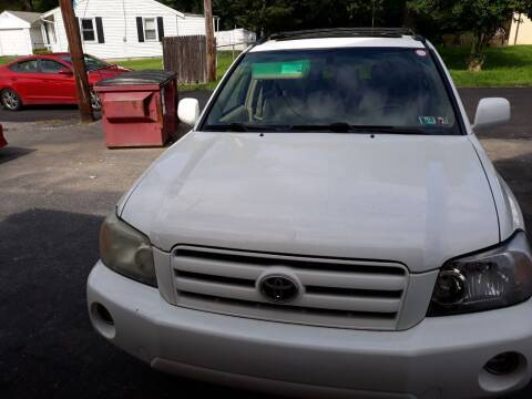 2006 Toyota Highlander for sale at GALANTE AUTO SALES LLC in Aston PA