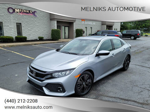 2018 Honda Civic for sale at Melniks Automotive in Berea OH