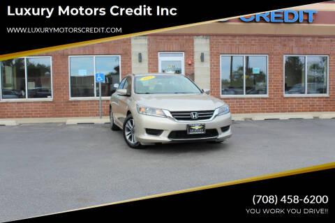 2013 Honda Accord for sale at Luxury Motors Credit Inc in Bridgeview IL
