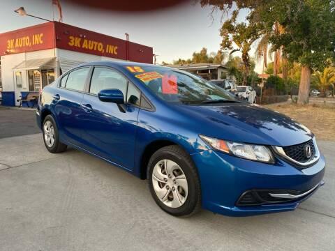 2015 Honda Civic for sale at 3K Auto in Escondido CA