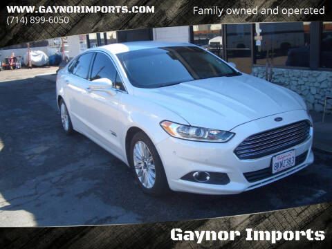 2013 Ford Fusion Energi for sale at Gaynor Imports in Stanton CA