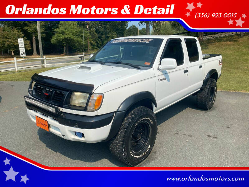 2000 Nissan Frontier for sale at Orlandos Motors & Detail in Winston Salem NC