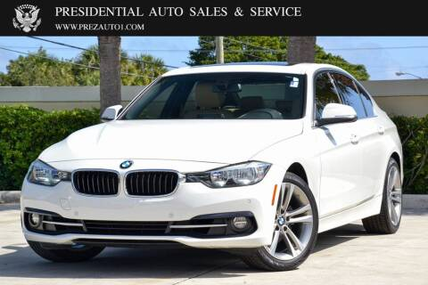 2017 BMW 3 Series for sale at Presidential Auto  Sales & Service in Delray Beach FL