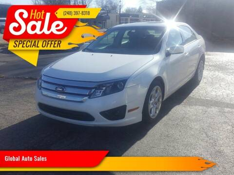 2010 Ford Fusion for sale at Global Auto Sales in Hazel Park MI