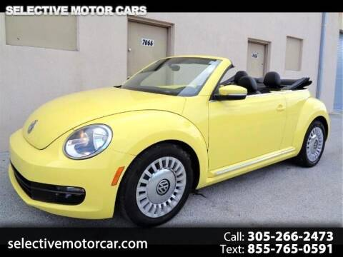 2015 Volkswagen Beetle Convertible for sale at Selective Motor Cars in Miami FL