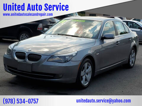 2008 BMW 5 Series for sale at United Auto Service in Leominster MA
