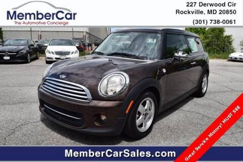 2011 MINI Cooper Clubman for sale at MemberCar in Rockville MD