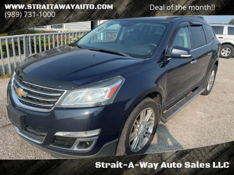 2015 Chevrolet Traverse for sale at Strait-A-Way Auto Sales LLC in Gaylord MI