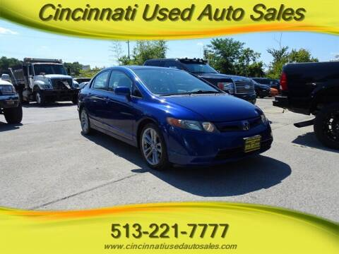 2008 Honda Civic for sale at Cincinnati Used Auto Sales in Cincinnati OH