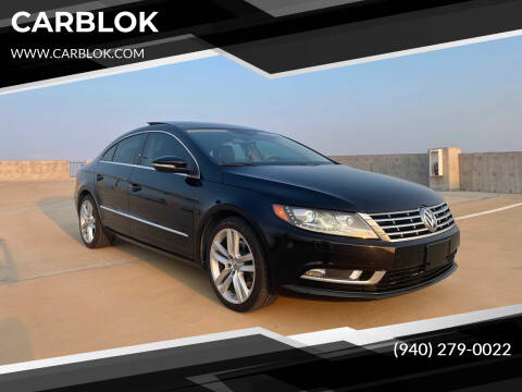 2014 Volkswagen CC for sale at CARBLOK in Lewisville TX