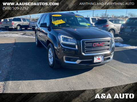 2013 GMC Acadia for sale at A&A AUTO in Fairhaven MA