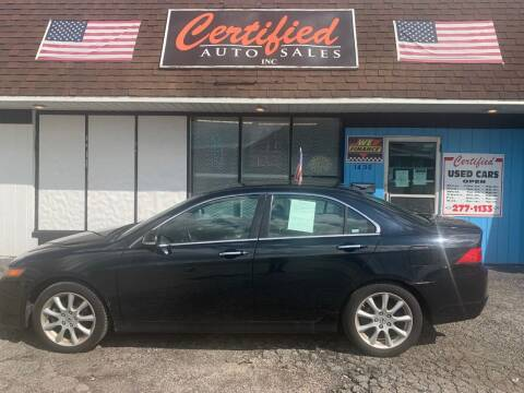 2008 Acura TSX for sale at Certified Auto Sales, Inc in Lorain OH