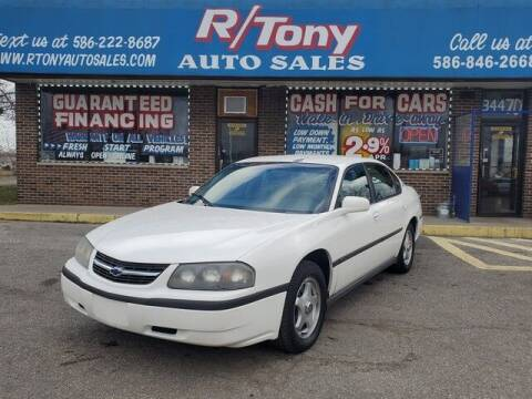 2001 Chevrolet Impala for sale at R Tony Auto Sales in Clinton Township MI
