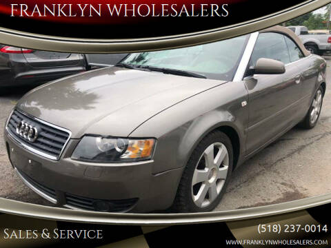 2003 Audi A4 for sale at Franklyn Auto Sales in Cohoes NY