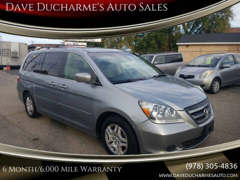 2006 Honda Odyssey for sale at Dave Ducharme's Auto Sales in Lowell MA