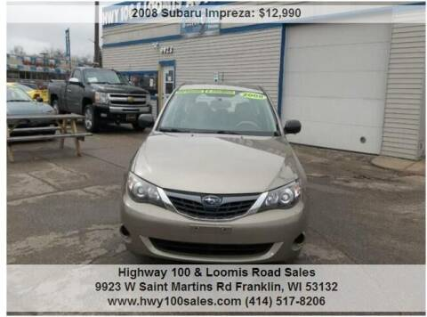 2008 Subaru Impreza for sale at Highway 100 & Loomis Road Sales in Franklin WI