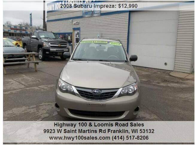 2008 Subaru Impreza for sale at Highway 100 & Loomis Road Sales in Franklin WI