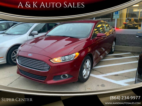 2015 Ford Fusion for sale at A & K Auto Sales in Mauldin SC