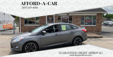2012 Ford Focus for sale at Afford-A-Car in Dayton/Newcarlisle/Springfield OH