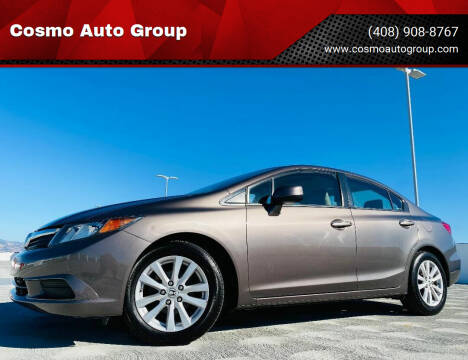 2012 Honda Civic for sale at Cosmo Auto Group in San Jose CA