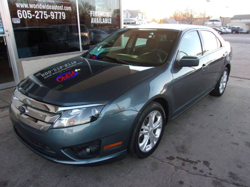 2012 Ford Fusion for sale at World Wide Automotive in Sioux Falls SD