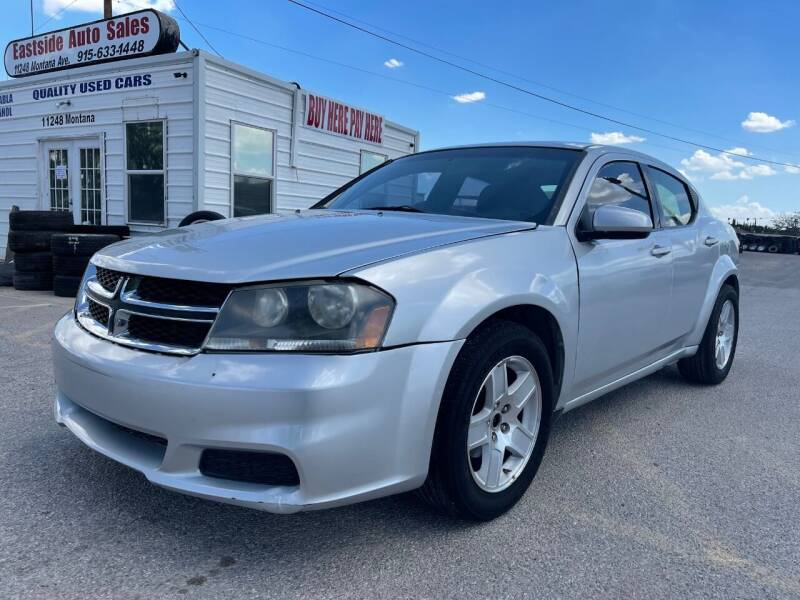 2012 Dodge Avenger for sale at Eastside Auto Sales in El Paso TX