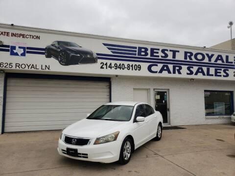 2009 Honda Accord for sale at Best Royal Car Sales in Dallas TX