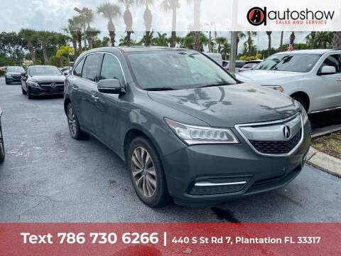 2015 Acura MDX for sale at AUTOSHOW SALES & SERVICE in Plantation FL
