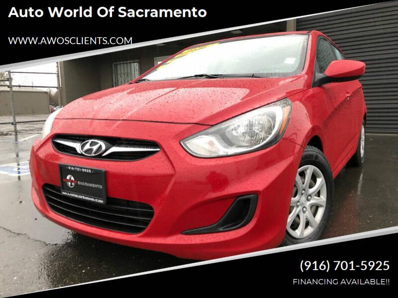 2012 Hyundai Accent for sale at Auto World of Sacramento Stockton Blvd in Sacramento CA