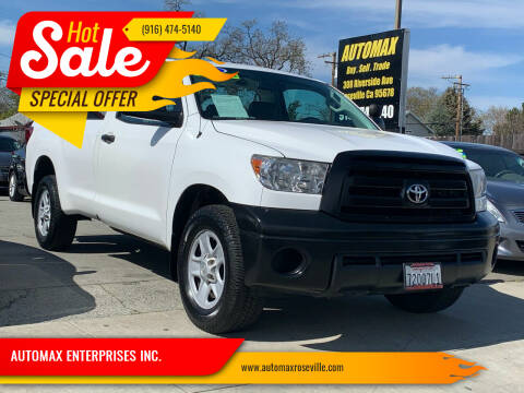 2013 Toyota Tundra for sale at AUTOMAX ENTERPRISES INC. in Roseville CA