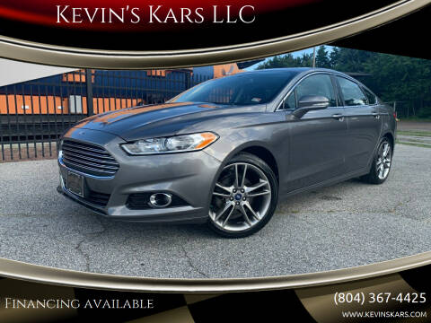 2013 Ford Fusion for sale at Kevin's Kars LLC in Richmond VA
