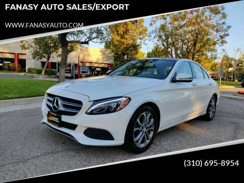 2016 Mercedes-Benz C-Class for sale at FANASY AUTO SALES/EXPORT in Yorba Linda CA