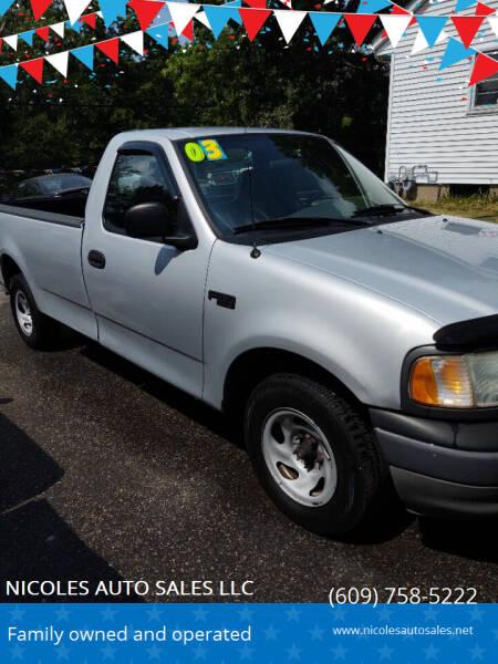 2003 Ford F-150 for sale at NICOLES AUTO SALES LLC in Cream Ridge NJ