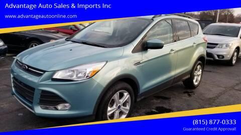 2013 Ford Escape for sale at Advantage Auto Sales & Imports Inc in Loves Park IL