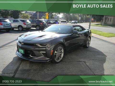 2017 Chevrolet Camaro for sale at Boyle Auto Sales in Appleton WI