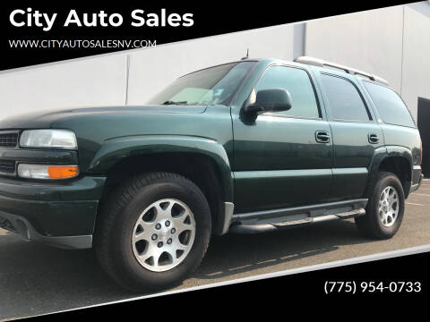 2003 Chevrolet Tahoe for sale at City Auto Sales in Sparks NV