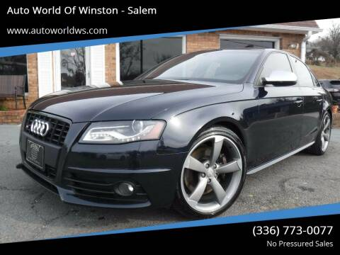 2011 Audi S4 for sale at Auto World Of Winston - Salem in Winston Salem NC