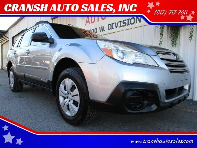 2013 Subaru Outback for sale at CRANSH AUTO SALES, INC in Arlington TX