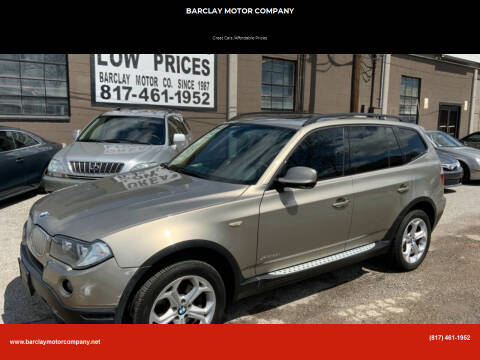 2010 BMW X3 for sale at BARCLAY MOTOR COMPANY in Arlington TX