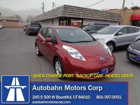2014 Nissan LEAF for sale at Autobahn Motors Corp in Bountiful UT