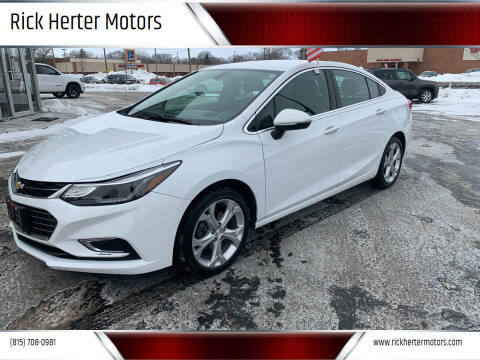 2017 Chevrolet Cruze for sale at Rick Herter Motors in Loves Park IL