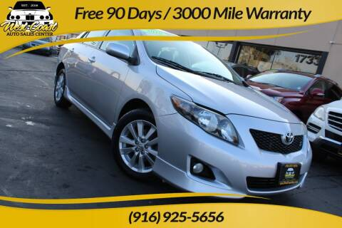 2010 Toyota Corolla for sale at West Coast Auto Sales Center in Sacramento CA