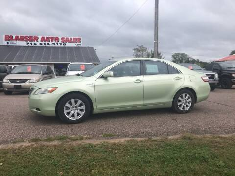 2007 Toyota Camry Hybrid for sale at BLAESER AUTO LLC in Chippewa Falls WI