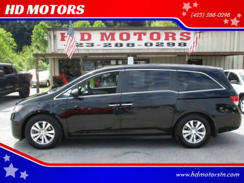 2014 Honda Odyssey for sale at HD MOTORS in Kingsport TN
