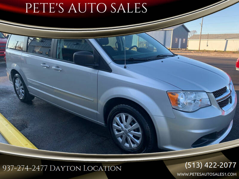 2012 Dodge Grand Caravan for sale at PETE'S AUTO SALES - Dayton in Dayton OH