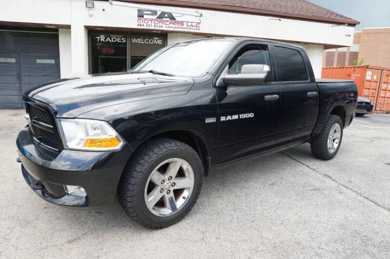 2012 RAM Ram Pickup 1500 for sale at PA Motorcars in Conshohocken PA