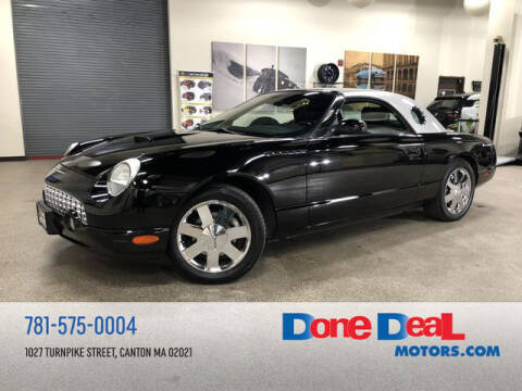 2002 Ford Thunderbird for sale at DONE DEAL MOTORS in Canton MA